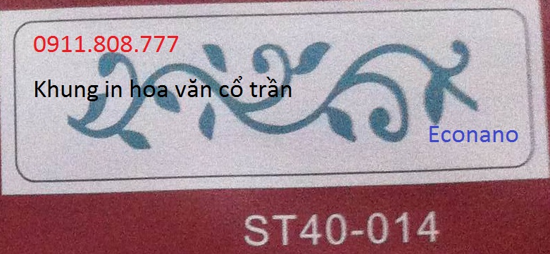 Khung in hoa van co tran ST-014