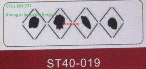 Khung in hoa văn cổ trần ST40-019