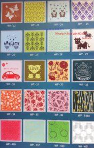 Khung in hoa văn 60x60 màu sắc đa dạng