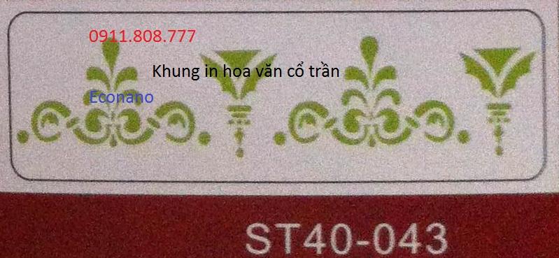 Khung in hoa van cổ trần ST40-043