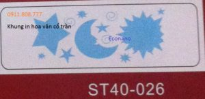 Khung in hoa văn cổ trần ST40-026