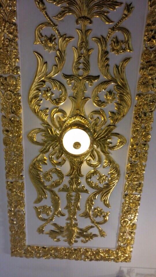 Thi công dát vàng lên trần thạch cao Thủ Đức