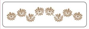 Khung in hoa văn cổ trần ST40-038