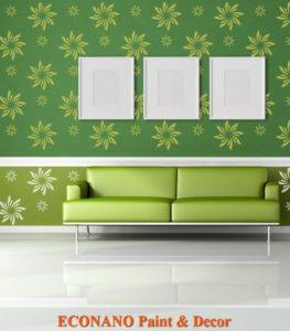 Sơn hoa văn - nghệ thuật trang trí tường hiện đại