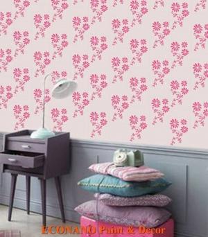 Sơn hoa văn lên tường