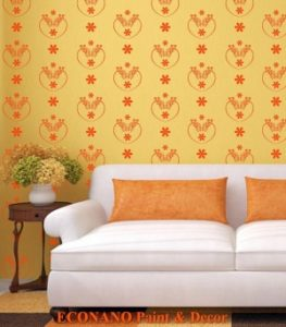 Thi công sơn hoa văn lên tường