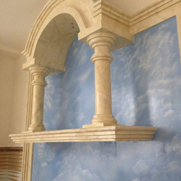 sơn tường giả đá